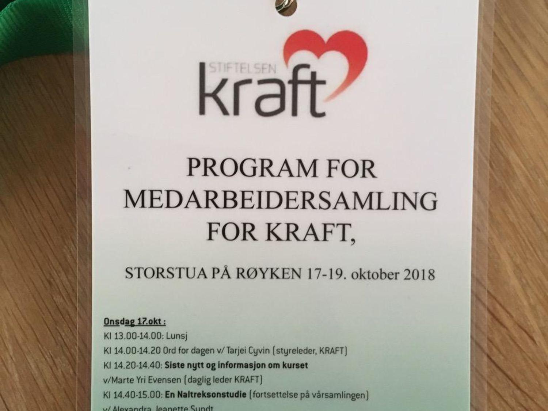 Stiftelsen KRAFT hadde medarbeidersamling fra 17-19.oktober.